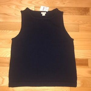 NWT J.Crew Factory Cotton Sweater Tank size S